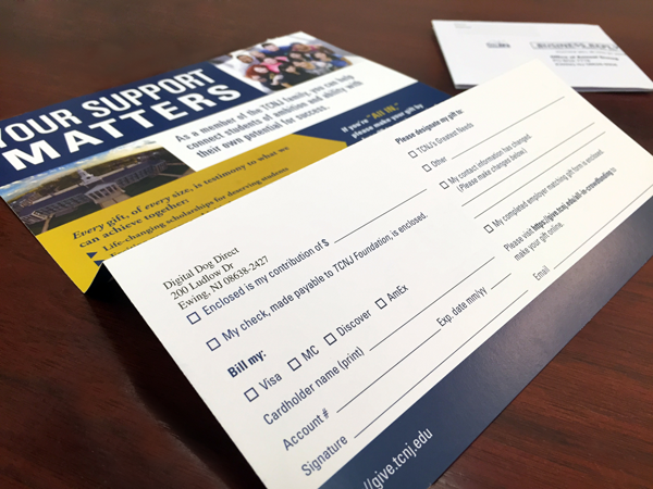 higher education self mailer design printing digital dog direct