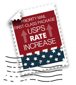 USPS rates increased in January 2016.