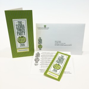 Direct mail invitation printed by Digital Dog Direct.