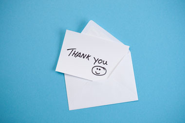 Writing a thank you note can help you in business.